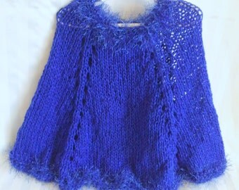 knit poncho etsy