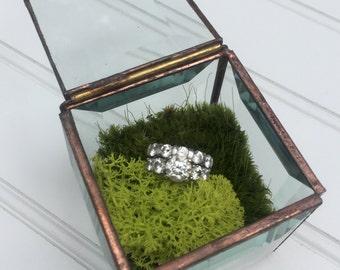 Glass Treasure Box - Ring Box