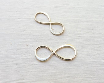 Medium Infinity Link Sterling Silver Jewelry Making Forever Symbol or Figure Eight (LHSN264)