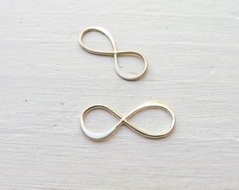 Medium Infinity Link Sterling Silver Jewelry Making Forever Symbol or Figure Eight