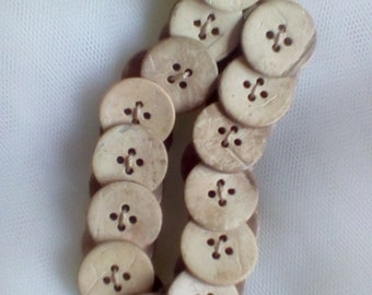 Wooden Effect Beads and Buttons