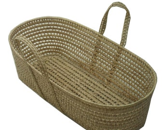 Moses Basket, Foam Mattress and 2 Cotton Sheets