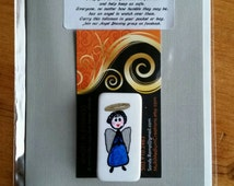 ANGEL BLESSING 23, Angel in your pocket to remind you that you are never alone. Signed, numbered and dated. No two alike.