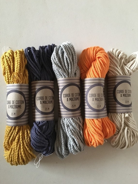 Skein 82 Ft Of Cotton Rope For Macrame Diameter 3mm
