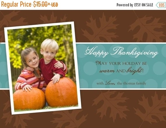 FALL SALE LEAVES...Custom Fall or Autumn Holiday Photo Cards...by Km Thomas Designs