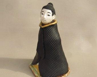 Zen Buddhist Monk Figurative Sculpture Jar or Urn Ceramic Sitting Meditation Buddha Original Handmade Art
