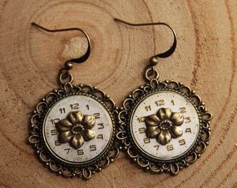 Vintage WATCH FACE Earrings- Handmade Watch Parts- Steampunk Jewelry