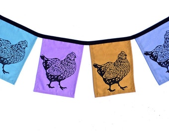 Chicken Flags set of 4