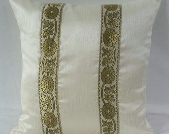 decorative pillow wedding decor cushion cover. Festive pillow.  Ivary pillow. 18inch custom made