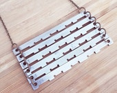 Stacked Vintage Adding Machine Parts Necklace
