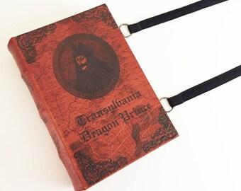 Dracula Messenger Book Purse - Bram Stoker Book Bag - Vampire Collector Gift - The Book of Dread Book Bag - Vlad The Impaler Book Bag