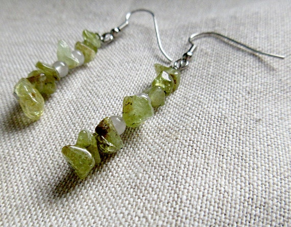 Peridot carnelian pi mathart sciart earrings are a unique gift for math teachers and graduates