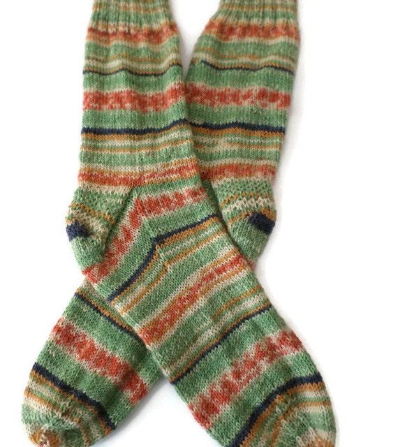 Socks Hand Knit Men S Fair Isle Socks Size 10 11
