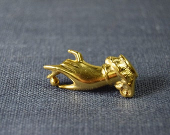 Gold Hand Pin