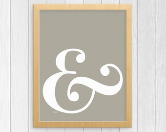 Ampersand Wall Art ampersand decor | etsy