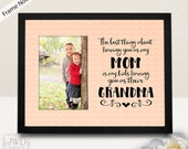 Mothers Day from Daughter Grandmother Gift Nana Gift Personalized Gift from Mother Picture Frame Mat - FRAME NOT INCLUDED #PM322 Peach