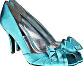 blue bow high heel shoe clip art png digital image download womens fashion art graphics printable wall art