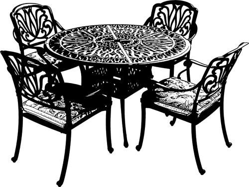 ausgefallene gartenm bel set schwarz clip von. Black Bedroom Furniture Sets. Home Design Ideas