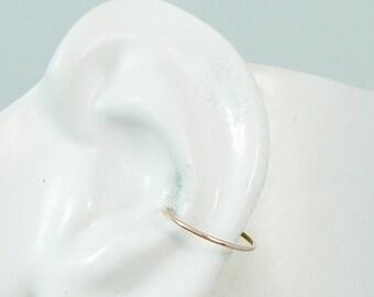 ROSE Pink Gold ENDLESS Hoop, Conch Cartilage Piercing, Infinite Gauge Hoop,Pink Rose Gold Conch Cartilage Earring,Hex Ring,Round ENDHRGF