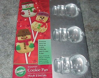 Wilton--Snowman--Cookie PAN--Cookie On A Stick--Factory Sealed--Unused
