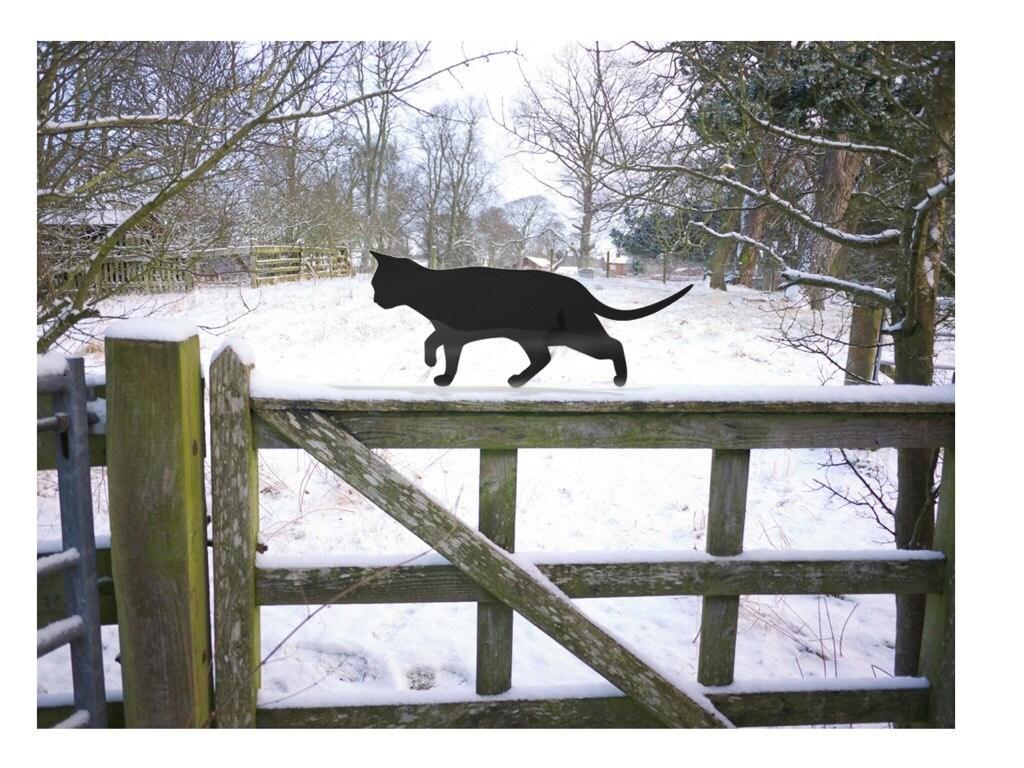 Prowling Cat Yard Art