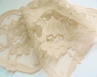 French Lace, Vintage Lace, Beige Lace, Wedding Lace, Lingerie Lace, 7 yards