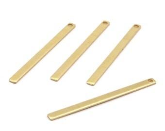 Minimalist Necklace Bar, 30 Raw Brass Bars (45x3x1mm) Brc 156--a0828