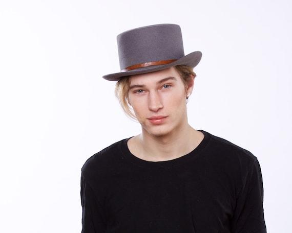 Pork Pie Hat Spring Fashion Men's Accessories Felt Boater Hat Canotiers Hat Bolero Hat Trilby Hat Men's Hat 1940s Hat Dress Hat Top Hat SALE