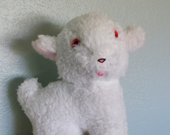 Plush Lamb Wind Up Musical Toy plays Jesus loves Me