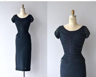 25% OFF.... Hématite Pierre dress | vintage 1950s dress | 50s wiggle dress