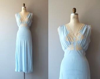 Barbizon House silk night dress | vintage 1930s silk nightgown | lace 30s lingerie