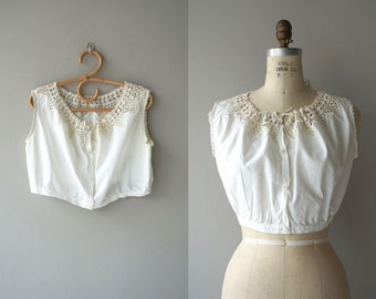 Elenie tatted lace camisole | vintage 1910s camisole | edwardian cotton corset cover