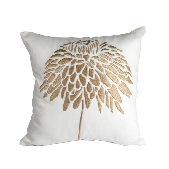 Decorative Cream Pillows : Peony Throw Pillow Cover Decorative Pillow Cover Cream