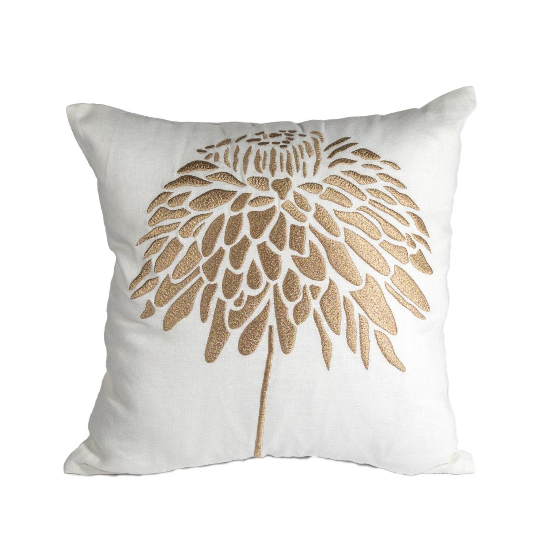 Throw Pillow Covers Cream : Peony Throw Pillow Cover Decorative Pillow Cover Cream