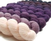 Gradient Lace Yarn - Color Play Collection - Gradient Yarn - Shy Violet Color Pack