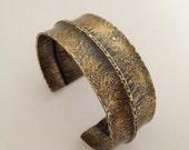 Brass cuff bracelet - fold formed brass cuff - textured brass bracelet - brass cuff - modern boho style