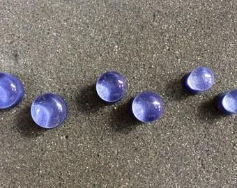"""Glass Plugs - Periwinkle - 12mm 1/2"""" - 00 gauge - 0 gauge"""