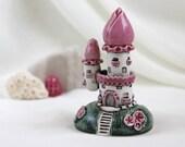 Romantic Pink House of tiny fairies -- unique Hand Made Ceramic Eco-Friendly Home Decor by studio Vishnya