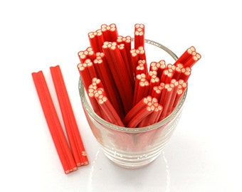 Bow Polymer Clay Sticks/Canes - Set of 10 - #SH118