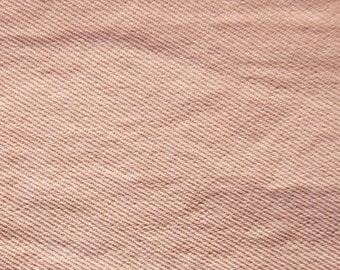 Denim Fabric By The Yard - Washed Denim in Dusty Rose Pink Denim Fabric - Large Fat Quarter - Available in Larger Yardage