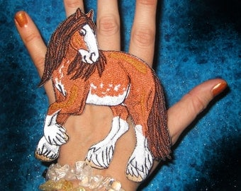 Epic Clydesdale horse  Iron on Patch or Sew On Patch