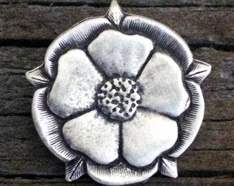 Tudor Rose Pewter Pin