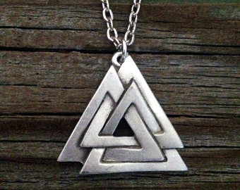 Viking Valknut Pewter Necklace