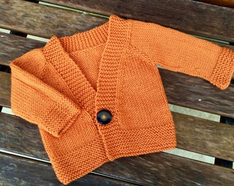 Hand Knit Baby Jumper Size 3 to 6 Month Old