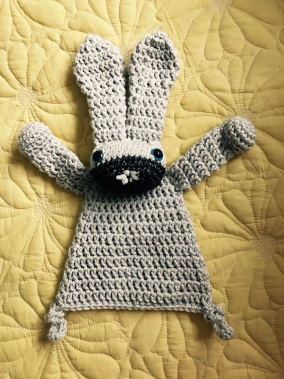 Linen and Gray Little Bunny Rag Doll Toy/Lovey