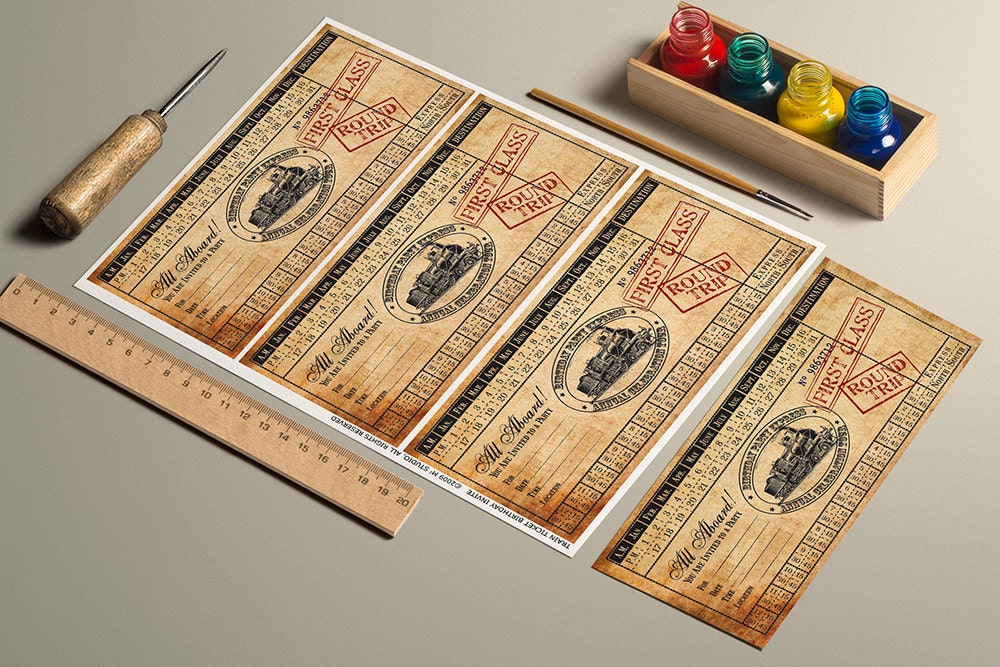 It is a photo of Persnickety Printable Train Tickets