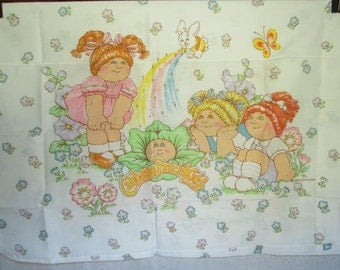 Vintage Cabbage Patch Kids Twin Size Sheet Set NOS 1983