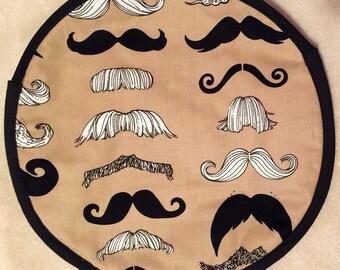 Beige Mustache Tortilla Warmer
