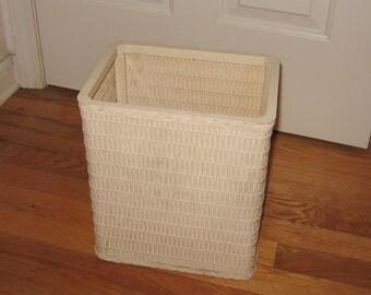 Vintage Wicker Waste Basket