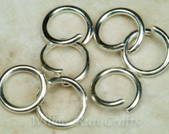 500 Silver Colored 6mm Jump Rings (07-24-460)